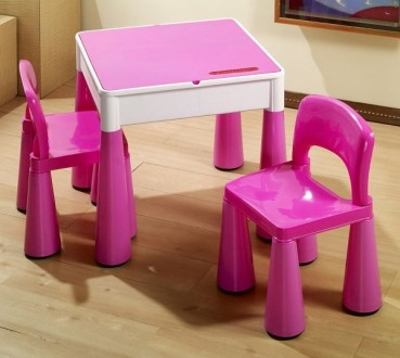 Комплект детской мебели Tega Baby Mamut (стол + 2 стула) (розовый(Pink)). Киев. фото 1