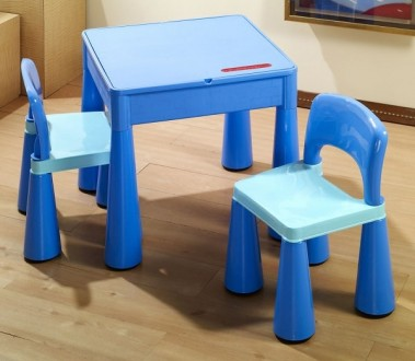 Комплект детской мебели Tega Baby Mamut (стол + 2 стула) (синий(Blue)). Киев. фото 1
