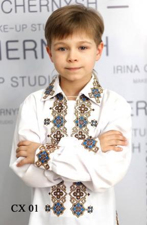 Стильная. яркая украинская вышивка. Сорочка для мальчика.. Вінниця. фото 1