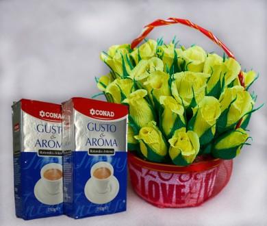 Букет из конфет + Итальянский кофе ( на выбор). Кривой Рог. фото 1