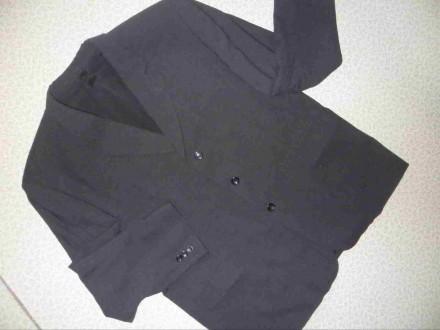 черный мужской пиджак шерсть 60-62р. Полтава. фото 1