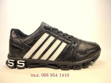 Кроссовки женские, черные с белым, для бега и тренировок. Размер 36-41.. Хмельницкий. фото 1