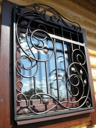 решетки на окна.kованые решетки. сварные решетки.. Буча. фото 1