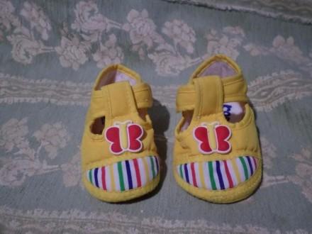 Обувь, тапочки, кеды для малыша 11 см (до 1 годика). Винница. фото 1