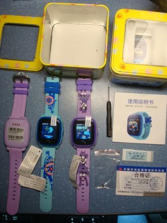 DF25 GW400s W9 сенсорные детские часы GPS защита от воды IP67. Херсон. фото 1