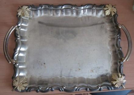 Поднос металлический. Чернигов. фото 1