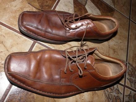 Туфли кожаные коричневые Clarks демосезонные size 8/28/41-42 р.. Черкассы. фото 1