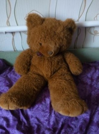 Игрушка Большой плюшевый медведь. Магдалиновка. фото 1