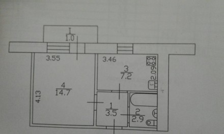 1-комнатная квартира на Подусовке, улучшенной планировки, жилое сост. Чернигов. фото 1
