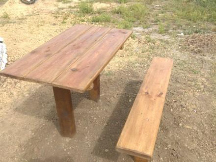 Стол и лавочка. Орджоникидзе. фото 1