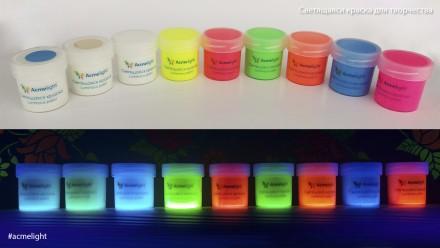 Светящаяся краска для творчества AcmeLight. Новинка!  Вы пользовались светящею. Кривой Рог, Днепропетровская область. фото 7