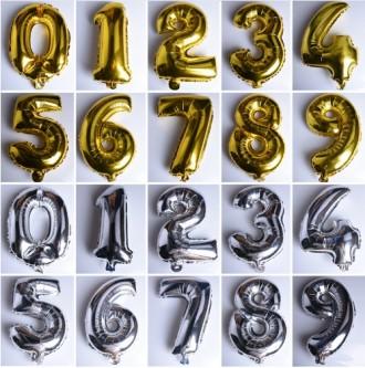 Фольгированные шарики (цифра, звезда, сердце). Киев. фото 1