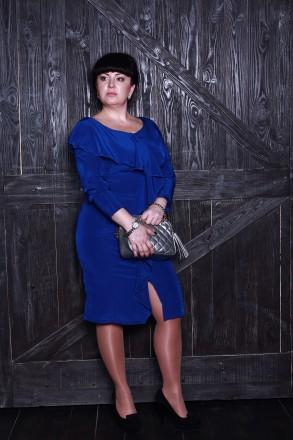 Шелковое платье с воланом. Киево-Святошинский. фото 1
