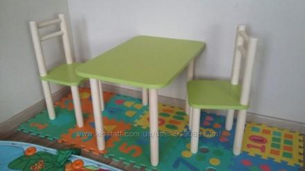 Детский комплект мебели, стол и стулья. Запорожье. фото 1