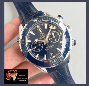 OMEGA - Seamaster Planet Ocean 600M Co-Axial Master Chronometer Blue Dial Steel. Киев. фото 1