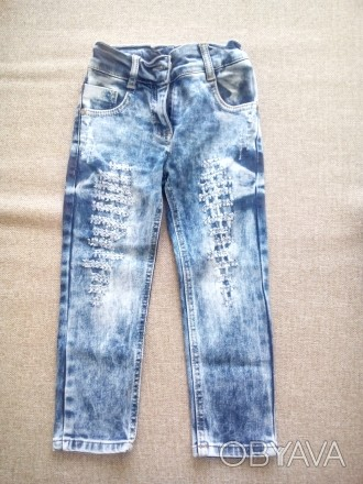 Продам гарні джинси на дівчинку, на 3- 4 роки.. Чернигов, Черниговская область. фото 1