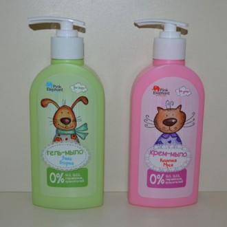 Детское жидкое мыло Заяц Егорка и Кошечка Муся. Киев. фото 1
