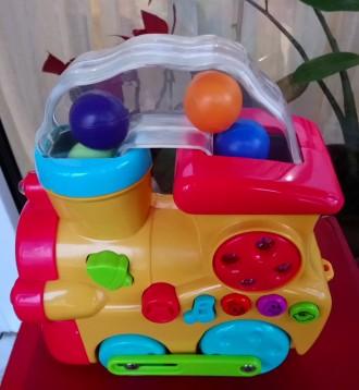 Музыкальный паровозик Navystar Развивающая игрушка. Киев. фото 1