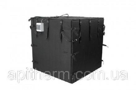 Нагреватель термобокс для разогрева IBC Еврокуба или 4 бочки 200 л. Apitherm™. Павлоград. фото 1