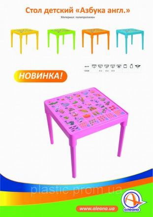 Детский пластиковый стол ТМ