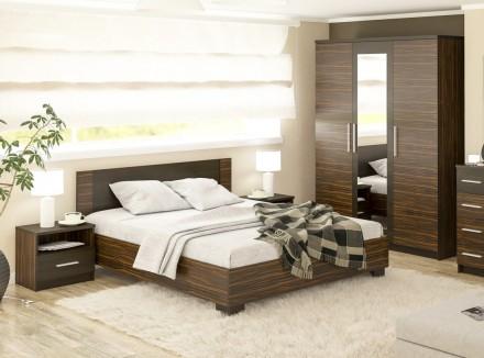 Спальня Вероника (Макасар). Кровать, шкаф, прикроватные тумбы. Киев. фото 1