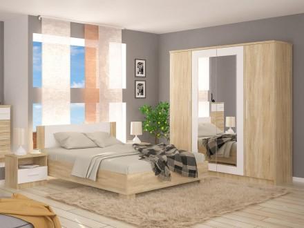 Спальня Маркос. Кровать, шкаф, прикроватные тумбы. Киев. фото 1