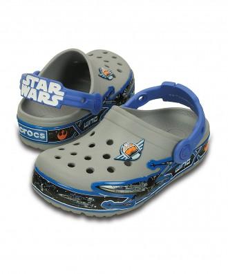 Кроксы с мигалками Crocs Star Wars р. С8-15см. Оригинал. Киев. фото 1
