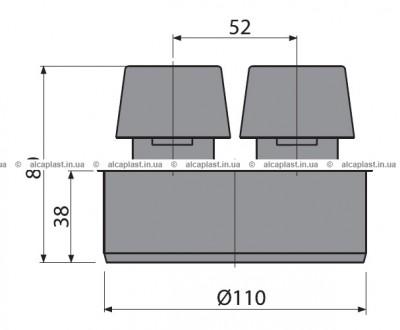 Вентиляционный клапан Ø110 APH110  Основные характеристики:  Материал - поли. Киев, Киевская область. фото 3