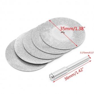 Отрезные алмазные диски диаметр 35мм на DREMEL и другие граверы, бормашинки.. Лубны. фото 1