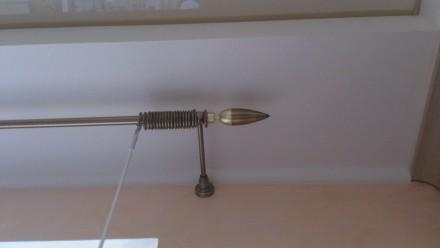 Металлический карниз для штор ф16мм 1й 2м комплект: труба гладкая ф16мм 2,0м 1ш. Днепр, Днепропетровская область. фото 3