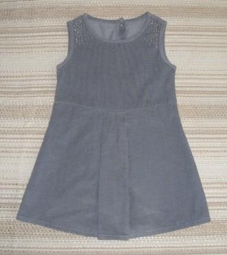 Сарафан Gloria Jeans из микровельвета, 100% хлопок. Возраст 4-5 лет, рост 110 см. Сумы, Сумская область. фото 3