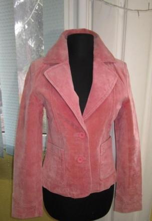 Стильная  женская велюровая куртка-пиджак Leathertex. Англия. Лот 95. Ужгород. фото 1