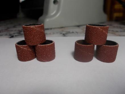 Шлифовальные наждачные насадки шубки для гравера бормашин DREMEL 12,7 зерно 80. Лубны. фото 1
