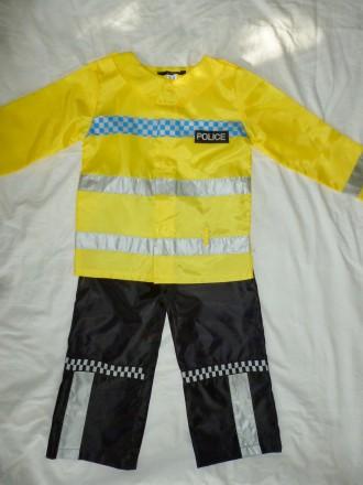 костюм полицейского на 3-4 года. Кременчуг. фото 1