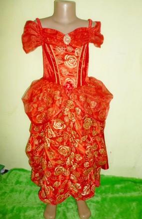платье Белль на 7-8 лет. Кременчуг. фото 1
