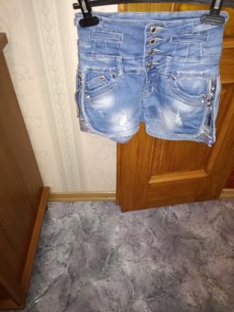 Продам шорты джинсовые б/у. Мариуполь. фото 1