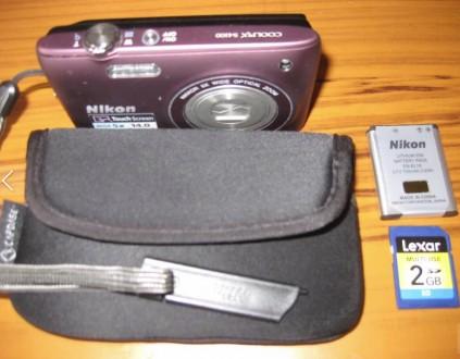 Цифровой фотоаппарат Nikon S4100-сенсорный.. Запорожье. фото 1