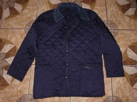 Куртка телогрейка морская тёмно-синяя Barbour на кнопках size L/50-52р.. Черкассы. фото 1