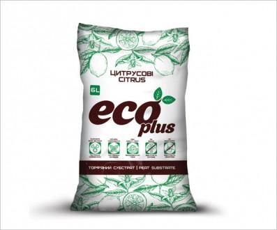 Торфяной субстрат ECO PLUS для цитрусовых 6 л. Винница. фото 1