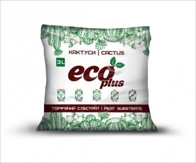 Торфяной субстрат ECO PLUS для кактусов 3 л. Винница. фото 1