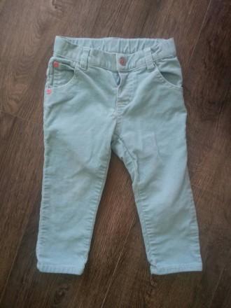 Бирюзовые вельветовые штанишки для вашей модницы. Киев. фото 1