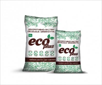 Торфяной субстрат ECO PLUS для декоративно-лиственных растений 10 л. Вінниця. фото 1