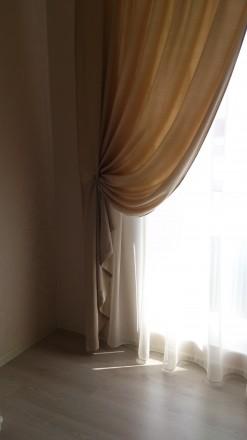 Комплект штор и гардин в спальню. Ткани Турция. Шторы сборка 1:1,5, гардины 1:2. Днепр, Днепропетровская область. фото 3
