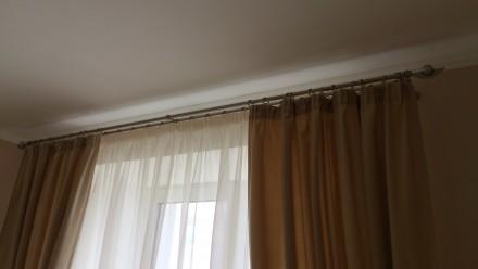Комплект штор и гардин в спальню. Ткани Турция. Шторы сборка 1:1,5, гардины 1:2. Днепр, Днепропетровская область. фото 6
