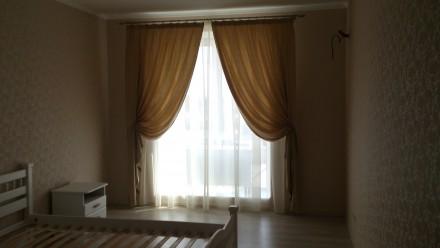 Комплект штор и гардин в спальню. Ткани Турция. Шторы сборка 1:1,5, гардины 1:2. Днепр, Днепропетровская область. фото 2