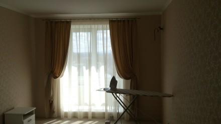 Комплект штор и гардин в спальню. Ткани Турция. Шторы сборка 1:1,5, гардины 1:2. Днепр, Днепропетровская область. фото 7