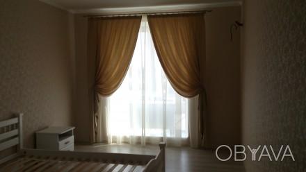 Комплект штор и гардин в спальню. Ткани Турция. Шторы сборка 1:1,5, гардины 1:2. Днепр, Днепропетровская область. фото 1