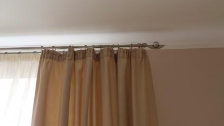 Металлический карниз для штор ф16мм 2й 2,4м комплект: труба гладкая ф16мм 2,4м . Днепр, Днепропетровская область. фото 3