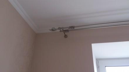 Металлический карниз для штор ф16мм 2й 2,4м комплект: труба гладкая ф16мм 2,4м . Днепр, Днепропетровская область. фото 2