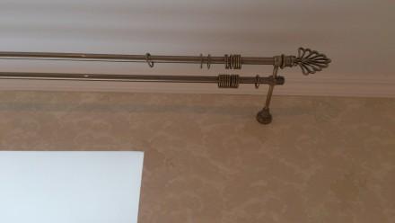 Металлический карниз для штор ф16мм 2й 3м комплект: труба гладкая ф16мм 3,0м 2ш. Днепр, Днепропетровская область. фото 3
